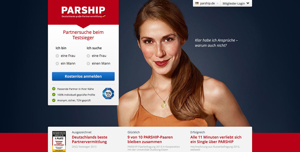 parship stiftung warentest dating partner